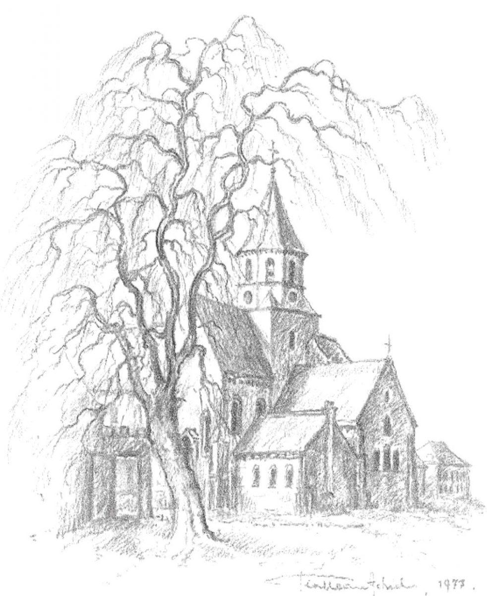 Rollegem schets kerk