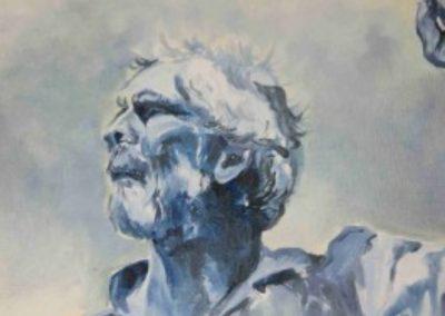 Kunst at Rollegem - blauw schilderij